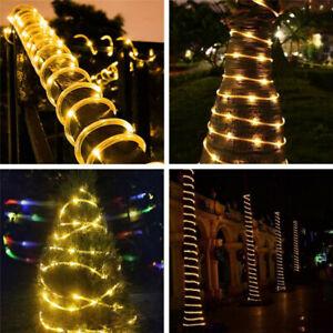 10M 100LED Outdoor Strip Rope Light Tube String Lights Garden Part