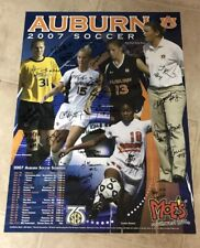 2007 AUBURN TIGERS WOMENS SOCCER TEAM SIGNED SCHEDULE POSTER
