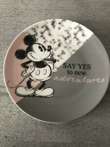 Disney Mickey Mouse Side Plate - Say Yes to New Adventures - Brand New