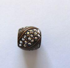 Brighton Bronze Americana Spacer Charm silver color- Clear & bronze crystals