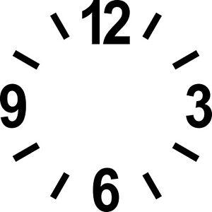 Zahlen Ziffern 12cm + Striche schwarz Tattoo Aufkleber Dekofolie Uhr Zifferblatt