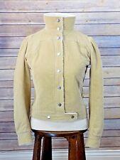 """Rare Vintage Courreges Paris """"Couture Future"""" Corduroy & Sherpa Iconic Jacket XS"""