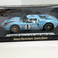 1966 Ford GT40 MK II Shelby Collectibles 1:18 Scale Diecast Model Car Ken Miles