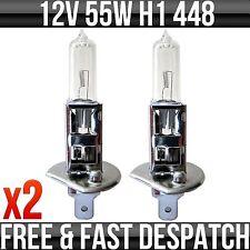 12V 55W P14.5S H1 Halogen Headlight / Headlamp Bulbs, Street Legal 448 Pack of 2