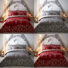 Fusion Reindeer Family Christmas Reversible Duvet Cover Set