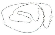 "Box Chain Sterling Silver Necklace 18"" Length 1mm"