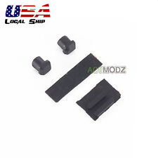 Repair Part Screw Hole Pad Rubber Plug for Nintendo DS Lite NDSL Black