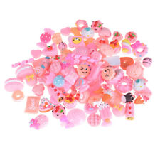 10Pcs Pink Blessing Bag Mixed Lot Cute Resin Food Candy DIY Craft Collection F&F