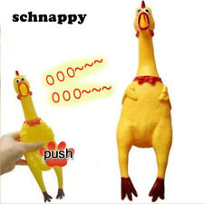 1Pcs Rubber Shrilling Chicken Squeeze Toys Dog Toy Screaming Chickens for Kids