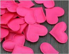 100 Rosa Chicas Fuente De Boda Pétalos De Tela En Forma De Corazón Mesa Cama Decoración cesta