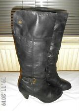 Red Tape Black Leather Boots Size UK 6 EUR 39