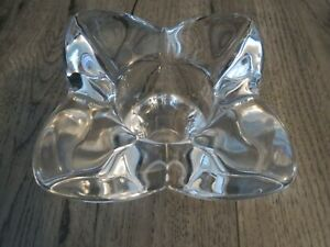 Thick crystal votive candle holder