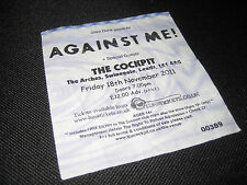 Against Me Ticket Stub (USED) Cockpit Leeds 2011 Memorabilia Concert COLLECTIBLE