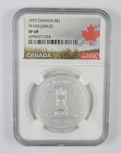 SP69 1977 Canada $1 Silver - Silver Jubilee - Graded NGC *051