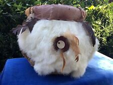 Cherokee North Carolina Native American Indian HANDMADE Fur & Feather Basket