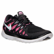 NEW NIKE FREE 5.0 GS RUNNING SHOES KIDS YOUNTH GIRLS BLACK/PINK 644446 001
