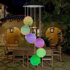 Colour Changing Hanging Wind Chimes Solar Powered Led Ball Lights Garden Outdoor