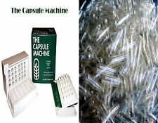 """00"" THE CAPSULE MACHINE Filler Filling Vitamins Herbs + 500 CLEAR Capsules"