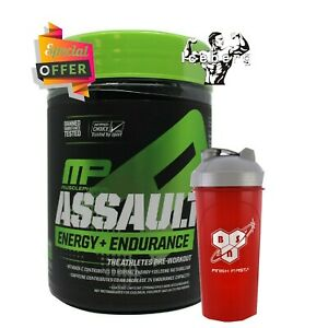 MusclePharm Assault Energy Pre-Workout & Shaker 345g Offer due to expiry 12/2020