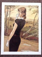 GIBRAT PRINT Art Beautiful 2007 Vintage Black Dress Erotic Sexy Female French