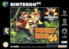 N64 donkey kong 64 without expansion pak in packaging very good condition util