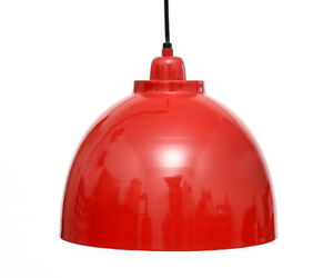 Hanging Lamp Pendant Lamp Ceiling Light Fire Red Silver Metal Industrial Style