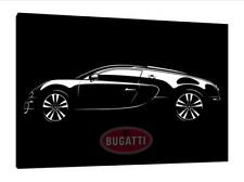 Bugatti Veyron 30x20 Inch Canvas Art - Framed Picture Print Supercar