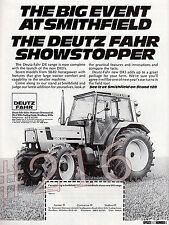 DEUTZ FAHR DX3 TRACTOR Range ADVERT - 1984 advertisement at Smithfield Show