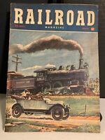 March 1950 Railroad Magazine High Iron Law Trains Locomotives Model