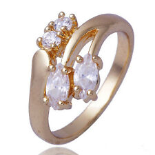 Promise Clear clear crystal Womens Jewelry Ring Size 8 Yellow Gold Plated