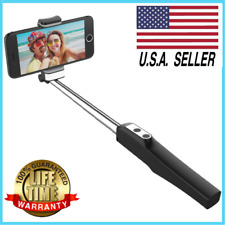 Selfie Stick Bluetooth Remote with LED Light & Mirror for iPhone Samsung GoPro