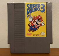 Super Mario Bros 3 Nintendo NES Rare First Print Left Bros Game Cartridge Only