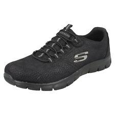 Ladies Skechers Casual Trainers Take Charge 12407 Black UK 6 Standard