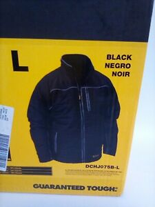 DEWALT DCHJ075B-L Quilted Heated Soft Shell Jacket, Black, Large, Bare NEW