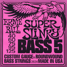 ERNIE Ball 5-String Super Slinky Bass guitar Strings 40-125 (NUOVO)
