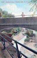 Sentry Bridge Watkins Glen New York Vintage Divided Back Post Card