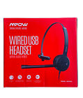 New Open Box Mpow Computer PC Headset 3.5mm USB Noise Cancel Wired Headphones