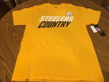 Pittsburgh Steelers NFL Men s Short Sleeve Steelers Country Gold Shirt  Medium 544468622