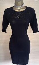 Karen Millen Dress Black Lace Knite