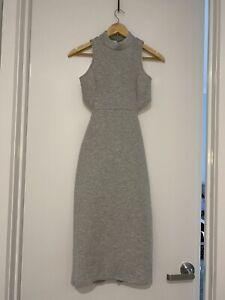 Mossman Grey Bodycon Dress Size 10 Excellent Condition