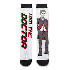 """Doctor Who Socks 12th Twelfth Doctor TARDIS Peter Capaldi """"I AM THE DOCTOR"""" New!"""