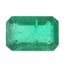 Loose Emerald - Rectangle Cut 1.02ct Green Solitaire