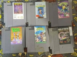 Lot of 6 NES Cartridges - Battletoads,Gauntlet, Castlevania + More - Tested