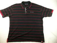 COOGI Short Sleeve Black/Red Stripe Polo Mens Shirt Size 3XL XXXL