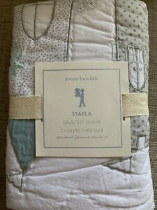 POTTERY BARN KIDS NEW Starla Ice Castle Quilted Pillow Sham Standard Cotton