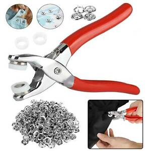 Prong Pliers Ring Press Studs Snap Buttons Popper Fasteners DIY Sewing Tool Kit
