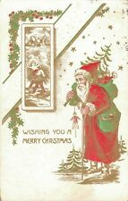Merry Christmas Vintage Santa Claus Best Vintage Postcard 03.09