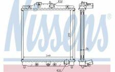 NISSENS Radiateur moteur pour HONDA CRX CIVIC 63312 - Pièces Auto Mister Auto