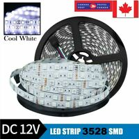 Waterproof 3528 LED Strip Light Flexibility 5M 600 LEDs DC 12V White Tape