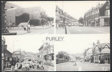Surrey Postcard - Views of Purley Streets & Swimming Pool, Pamlin Print - 33
